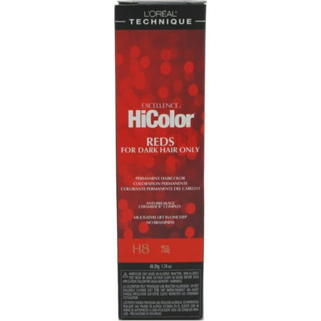 L'Oreal Excellence HiColor Red Fire H8, 1.74 oz