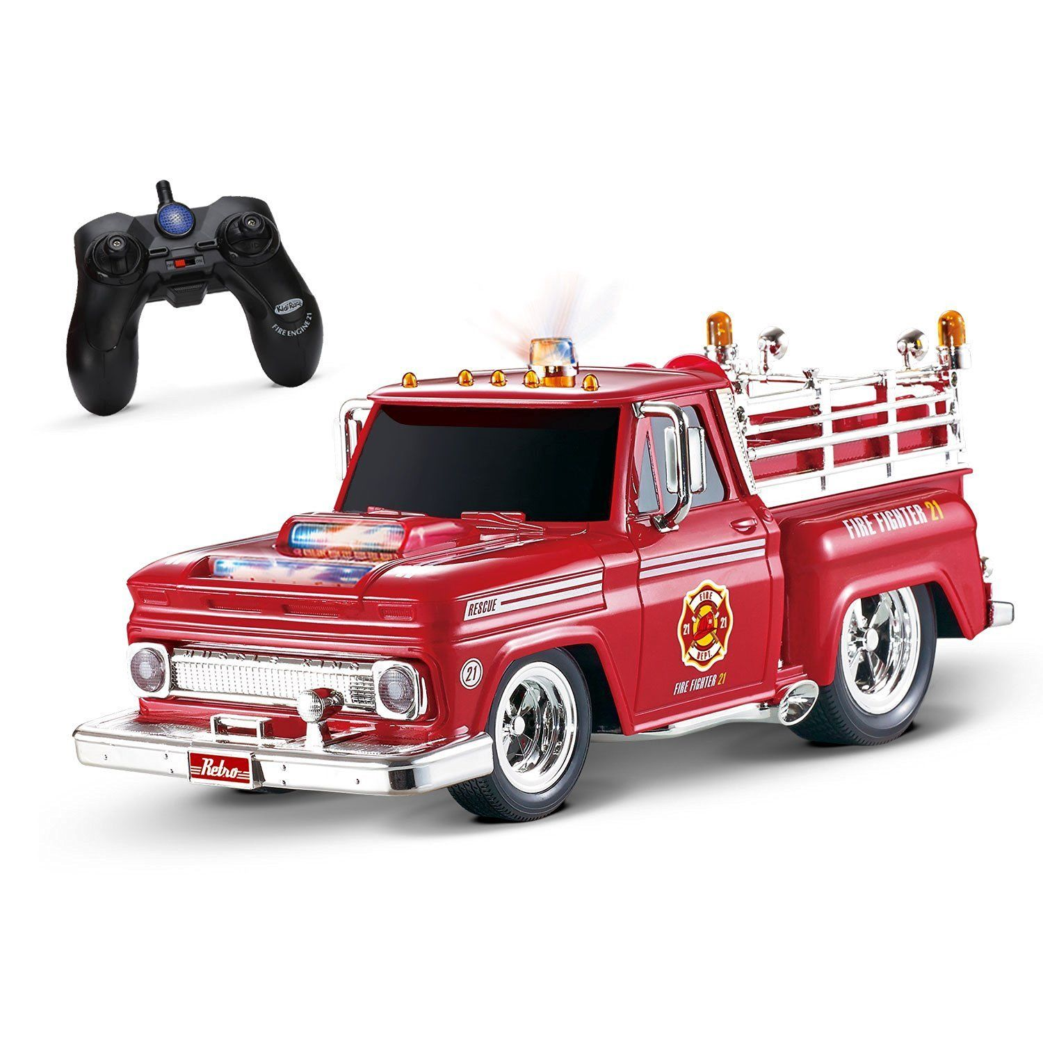 Kidirace RC Remote Control Fire Engine 21 Truck, Durable, Easy To ...