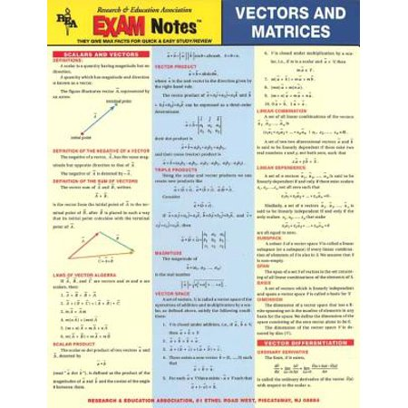 Vectors And Matrices Exam Notes (Express A As A Product Of Elementary Matrices)