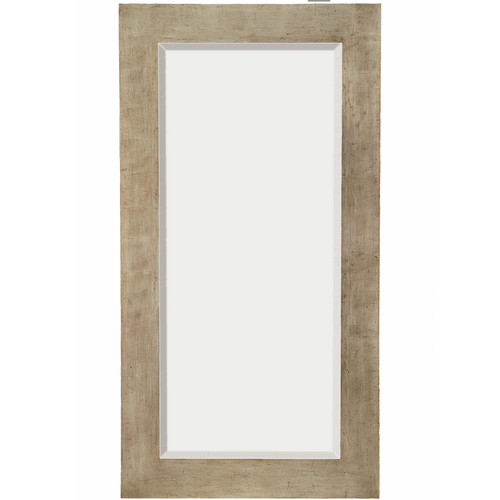 Majestic Mirror Tall Rectangular Silver Sleek Beveled Glass Framed Wall Mirror