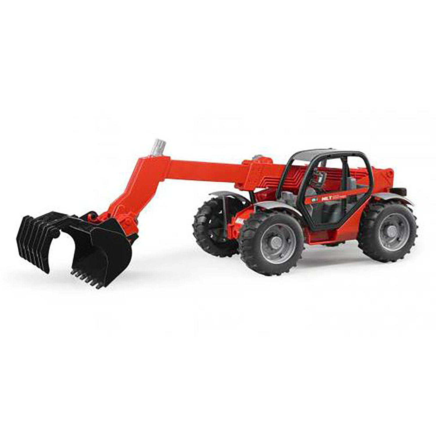 Bruder Toys Manitou Teleskpoic Turbo Play Tractor with Lift Loader MLT 633, Red by Bruder Toys
