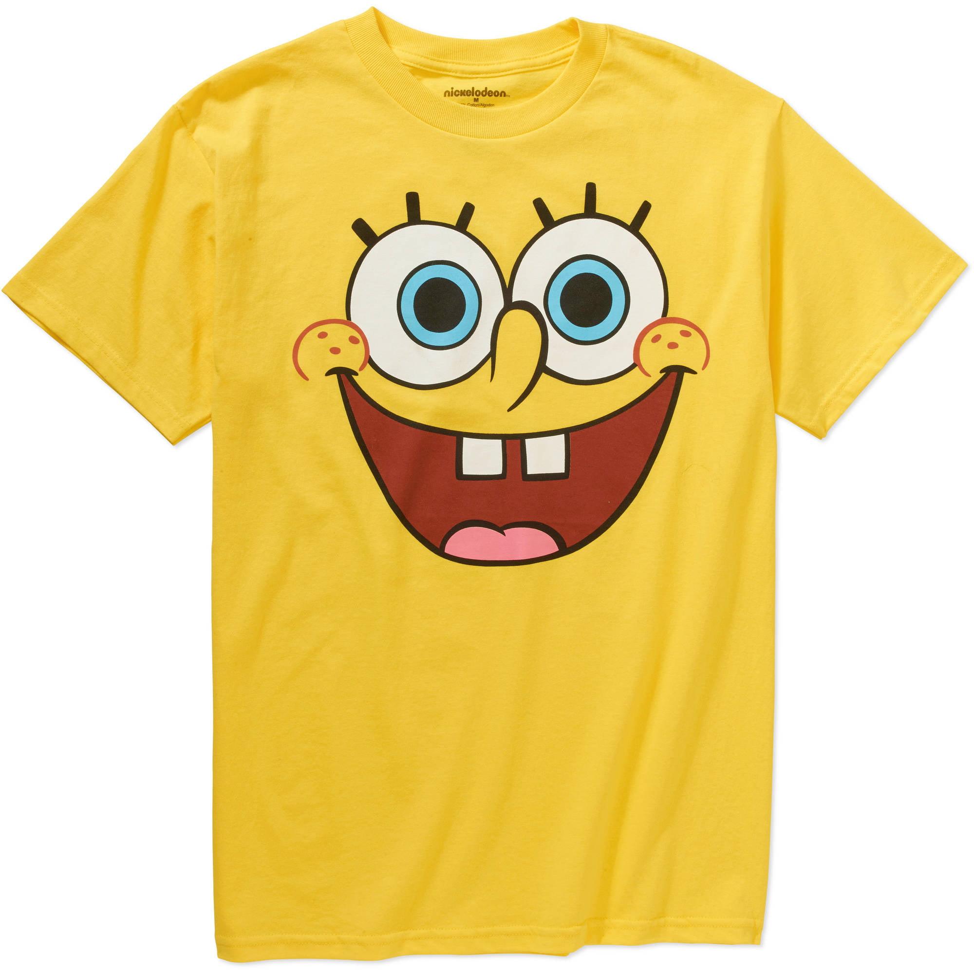 Nickelodeon Spongebob Face Men's Graphic Short Sleeve Tee