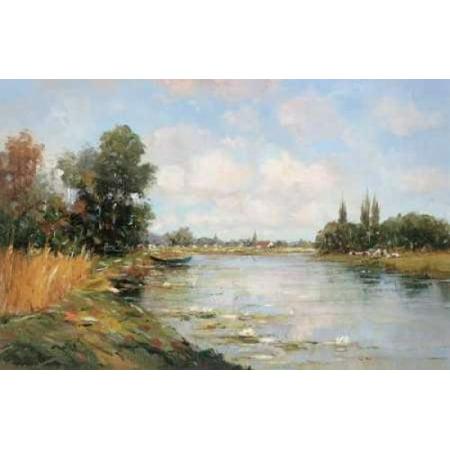 - Aan de Waterkant I Canvas Art - Rob De Haan (24 x 36)