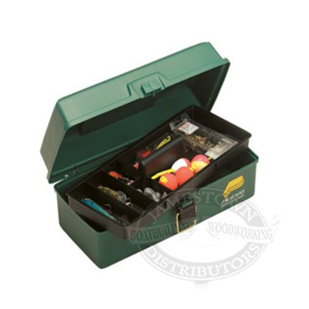 1001-03 Tackle Box, 5-Compartment, Green, 345023 Grn Access MetallicOff Co System Boxes by Plano 2Tray Molding 5Compartment Box with Tackle DoubleSided.., By Plano (Plano Molding Co Fishing Tackle)