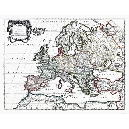 International Map - Europe - Sanson 1641 - 30 01 x 23