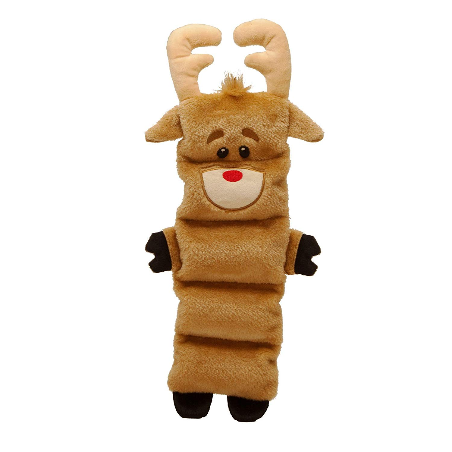 Kyjen 32107 Invincibles Reindeer Squeaking Stuffingless Durable Dog Toy with 5 Squeakers, Brown, Stuffing-less By Outward Hound