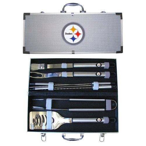 NFL 8-Piece BBQ Set with Hard Case, Pittsburgh Steelers