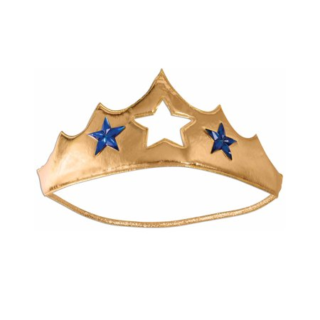Super Hero Wonder Woman Princess Queen Gold Tiara Costume Accessory