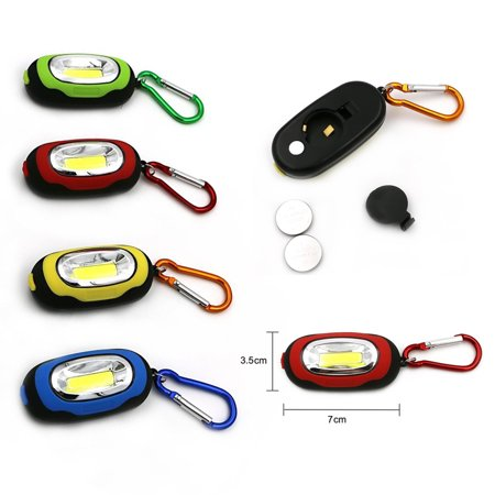 6 Portable COB LED Flashlights Key Ring  Carabiner Keychain Camping Light Hiking - Led Keychain