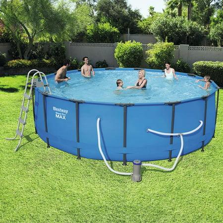 Bestway Steel Pro Max Swimming Pool Set with 1,000 GPH Filter Pump, 15' x 48