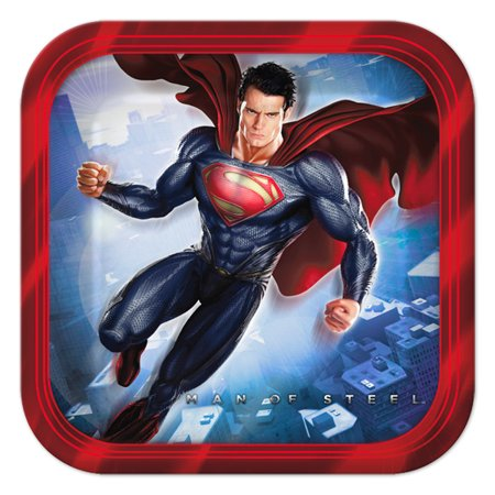 Superman Man of Steel Small Paper Plates (8ct) (Superman Chest Plate)