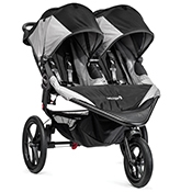 Baby Jogger Summit X3 Double Jogging Stroller- Black/Gray