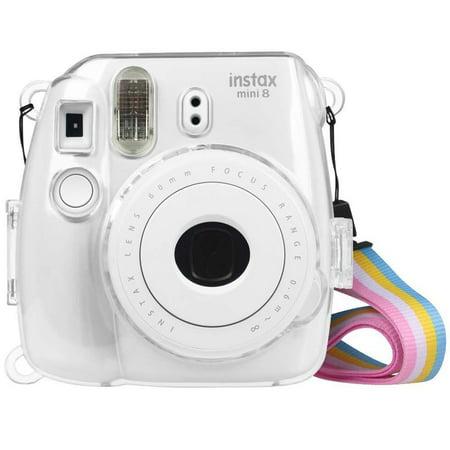 Semi Hard Camera Case - Protective Hard Clear Case Cover for Fujifilm Instax Mini 8/8+/9 Instant Camera