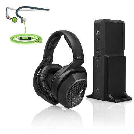 Sennheiser RS175 Over-Ear Wireless Headphone Charging System + In-Ear Headphones