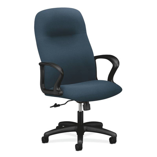 Gamut Executive High-Back Chair | Center-Tilt | Fixed Arms | Charcoal Fabric