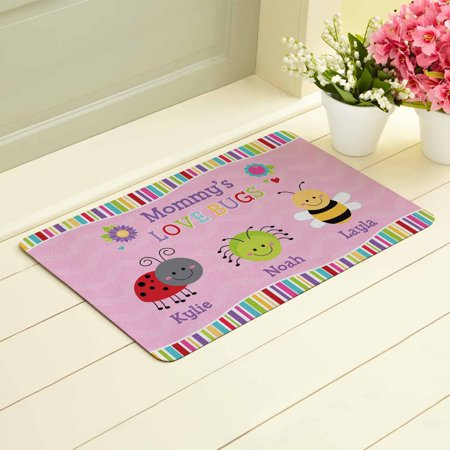Personalized Love Bugs Doormat, Available in 2 Styles