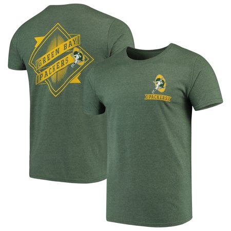 eba01d41 Green Bay Packers Majestic Iconic Retro Diamond Scroll T-Shirt - Green