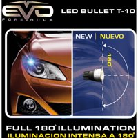 CIPA T-10 Bullets LED Ultra-White Bulbs