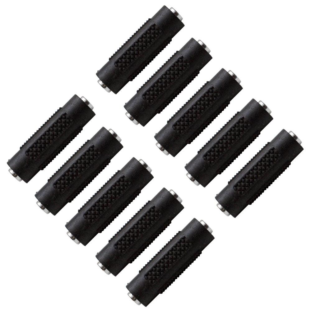 "Seismic Audio  - 10 Pack of 1/8"" Female to 1/8"" Female Coupler (Black & Silver) Multi color - SAPT120-10Pack"