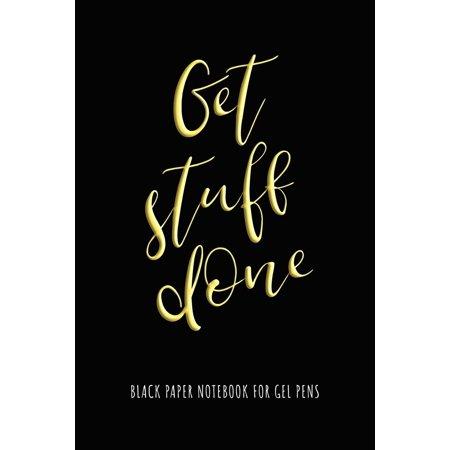 Get Stuff Done - Black Paper Notebook for Gel