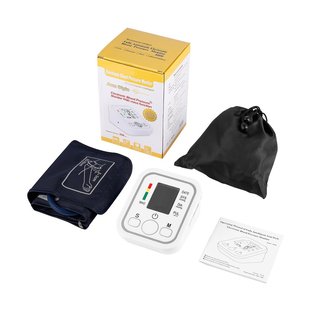 Wrist Digital Blood pressure Monitor with Case - Large Display