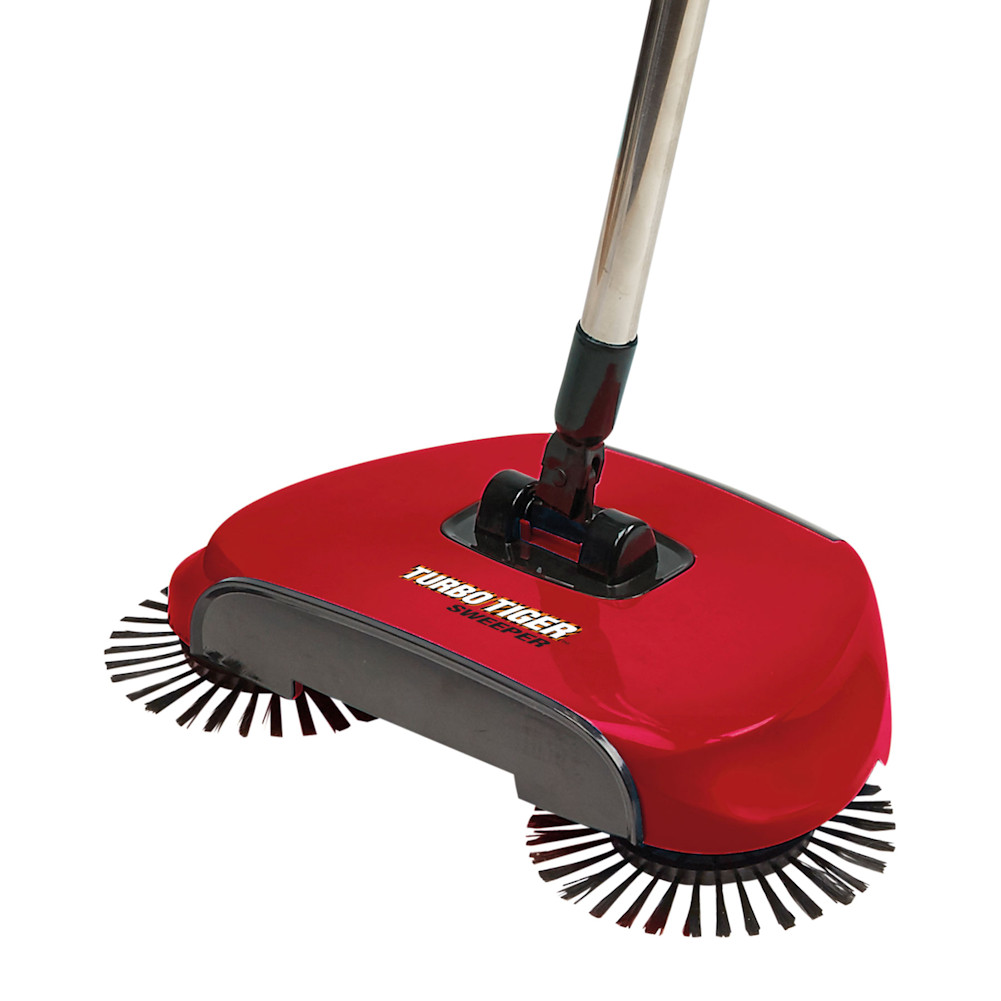 Turbo Tiger Sweeper - Hard Floor Rotating Brush Broom