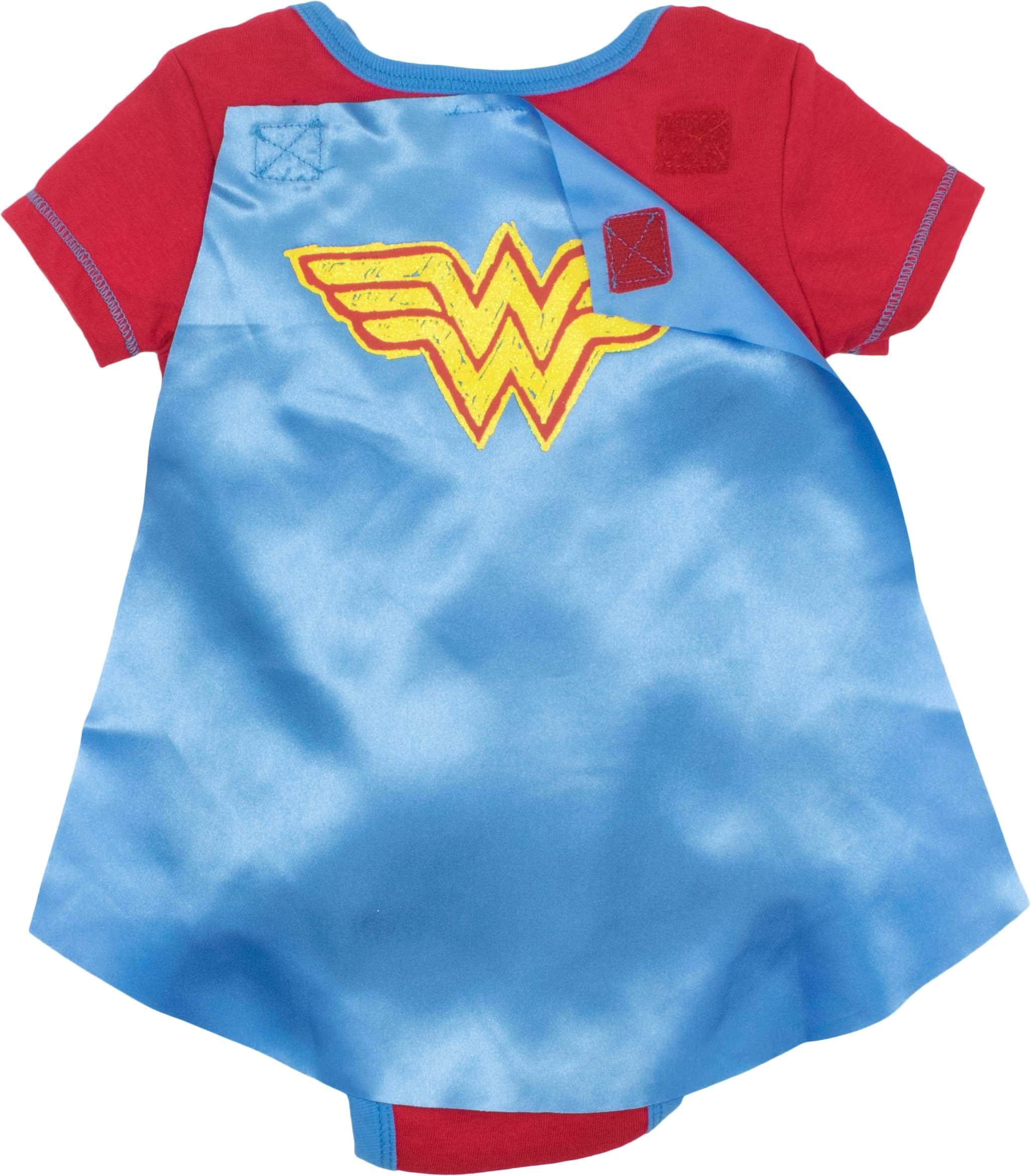 2dc6902a9 Warner Bros. - DC Comics Wonder Woman Baby Girls' Bodysuit and Cape, Red  (12 Months) - Walmart.com
