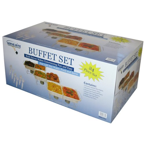 Serve-Rite 24-Piece Buffet Serving Set