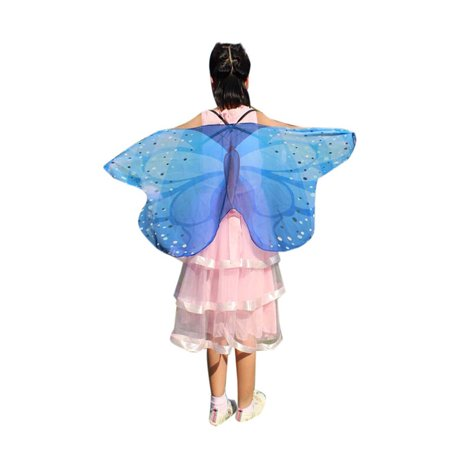 Child Kids Boys Girls Bohemian Butterfly Print Shawl Pashmina Costume Accessory - Shaft Costume