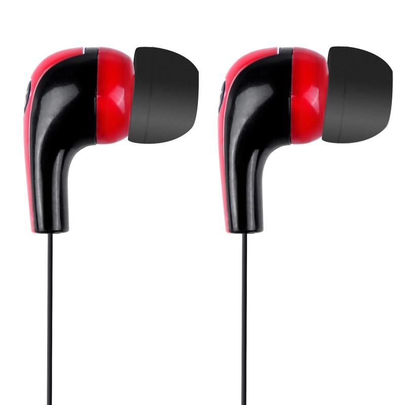 Stylish In-Ear Stereo Earphone Earbud Headphone for iPod iPhone MP3 MP4 Smartphone Red & Black