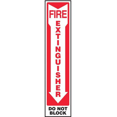 ACCUFORM SIGNS MFXG580VS Fire Extinguisher Sign, 18 x 4In, ENG, SURF