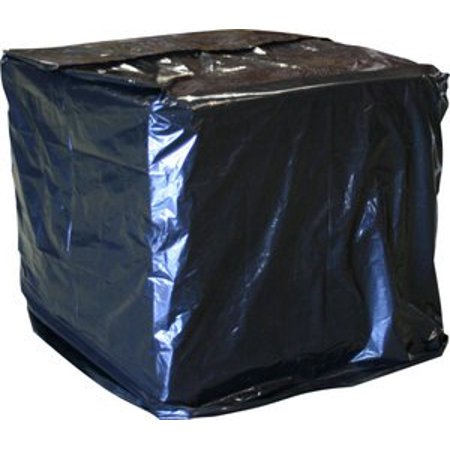 3 Mil Pallet Covers - Laddawn Uvi Protective Pallet Top Covers, 51 X 49 X 73, 3 Mil, Black, 40/Case