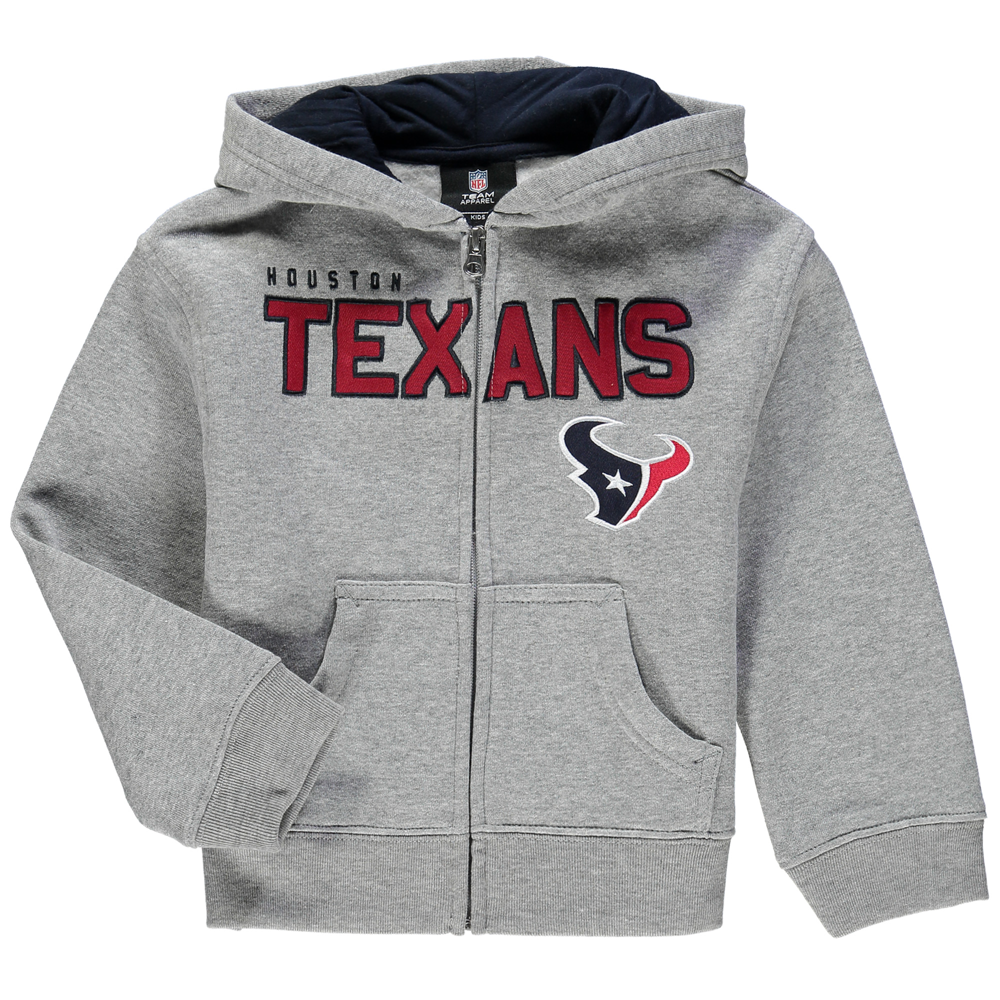 Houston Texans Toddler Fan Gear Stated Full Zip Hoodie - Gray