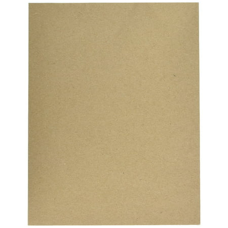 Cardboard Medium Weight Chipboard Sheets - 50 Chipboards Per Pack. (8 1/2 X 11 Inches)
