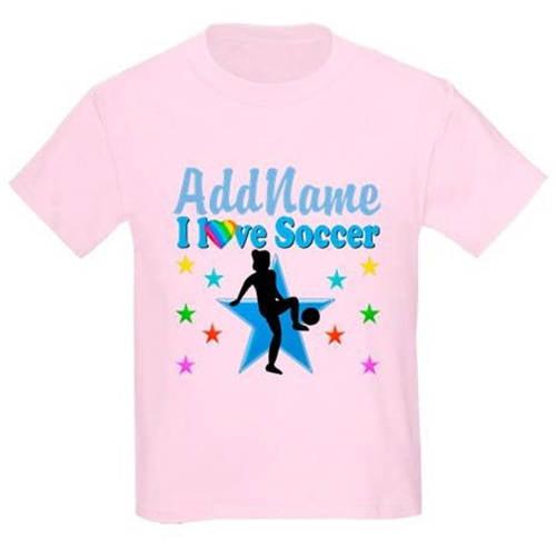 Cafepress Personalized Soccer Player Kids Light T-Shirt
