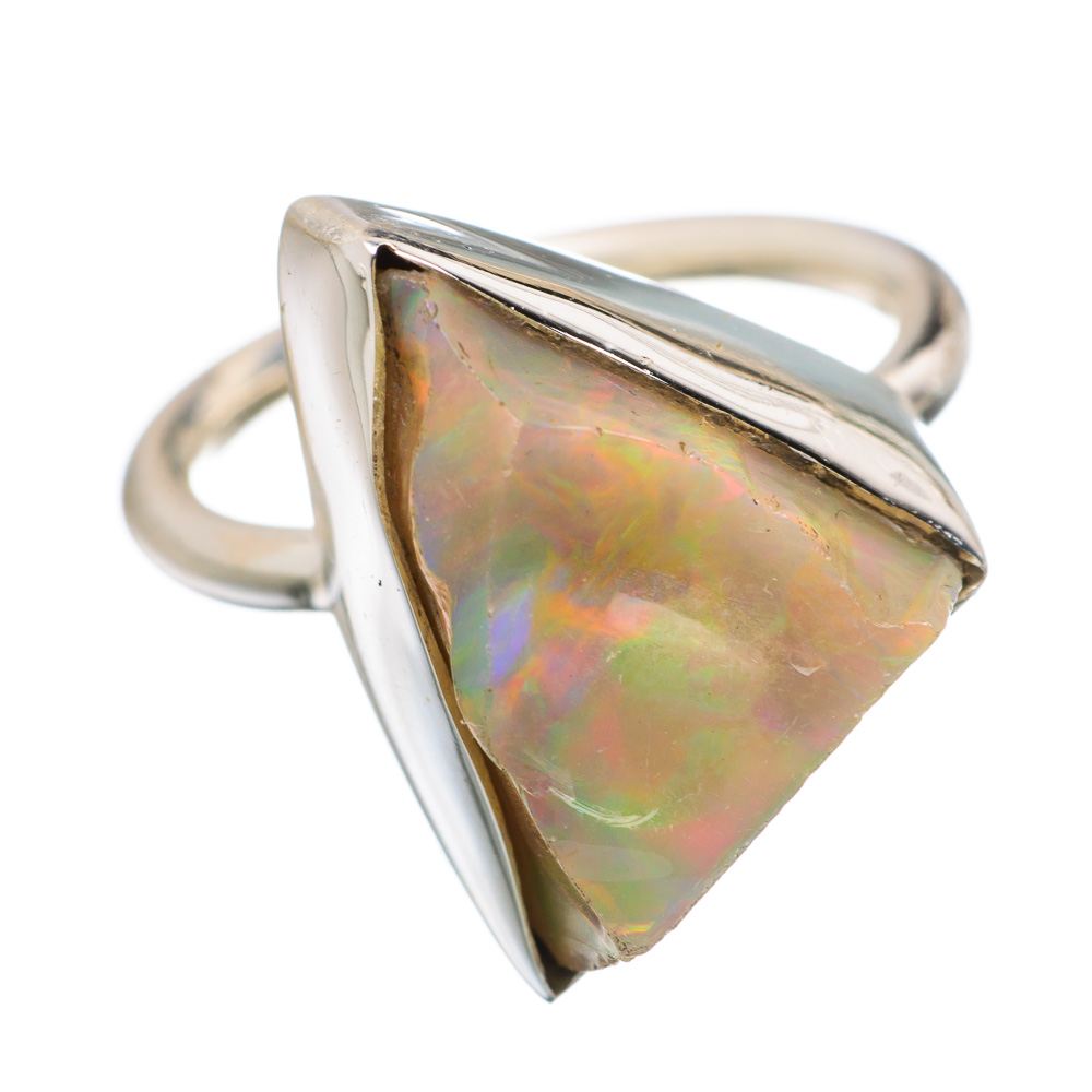 Ana Silver Co Rough Ethiopian Opal 925 Sterling Silver Ring Size 6.25 RING839935