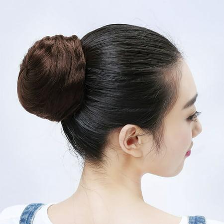 Coofit Hair Bun Extension Fashion Straight Elastic Band Fake Hair Bun Hair Chignon Walmart Canada