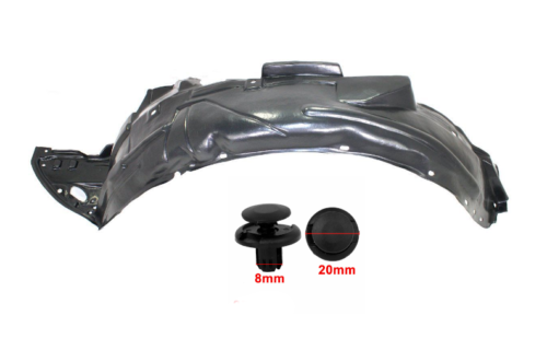 Parts N Go 1998-2002 Accord Front Driver Side Fender Liner with Clip//Fasteners HO1248106 74151S84A00