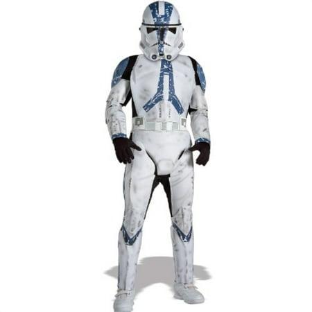 Rubie's Star Wars Classic Child's Deluxe Clone Trooper Costume and Mask, Medium - Clone Trooper Costumes
