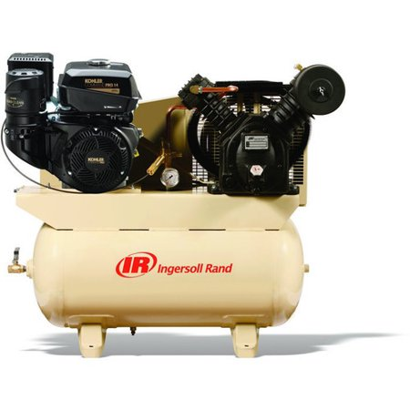 Ingersoll rand 2475f14g two stage gas powered air for Air compressor gas motor