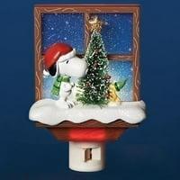 """Roman 57414 - 6"""" Snoopy and Woodstock Christmas Tree Night Light (6""""snoopy/ws by xmas tree nl)"""