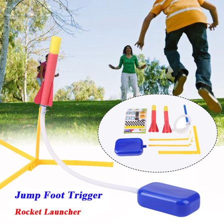 Multiple Rocket Launcher - Tbest Foam Tipped Rocket Launcher Jump Foot Trigger with 2 Darts Outdoor Activity Play Kids Toy Set,Foam Rocket, Foam Rocket Toy