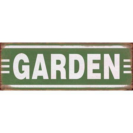 Barnyard Designs Garden Retro Vintage Tin Bar Sign Country Home Decor 13 75  X 5