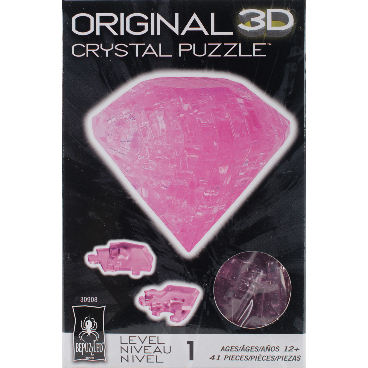 3D Crystal Puzzle Pink Diamond