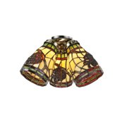 Meyda Tiffany 98994 Bronze Tiffany Glass 1 Light Shade From The Pinecone Collection