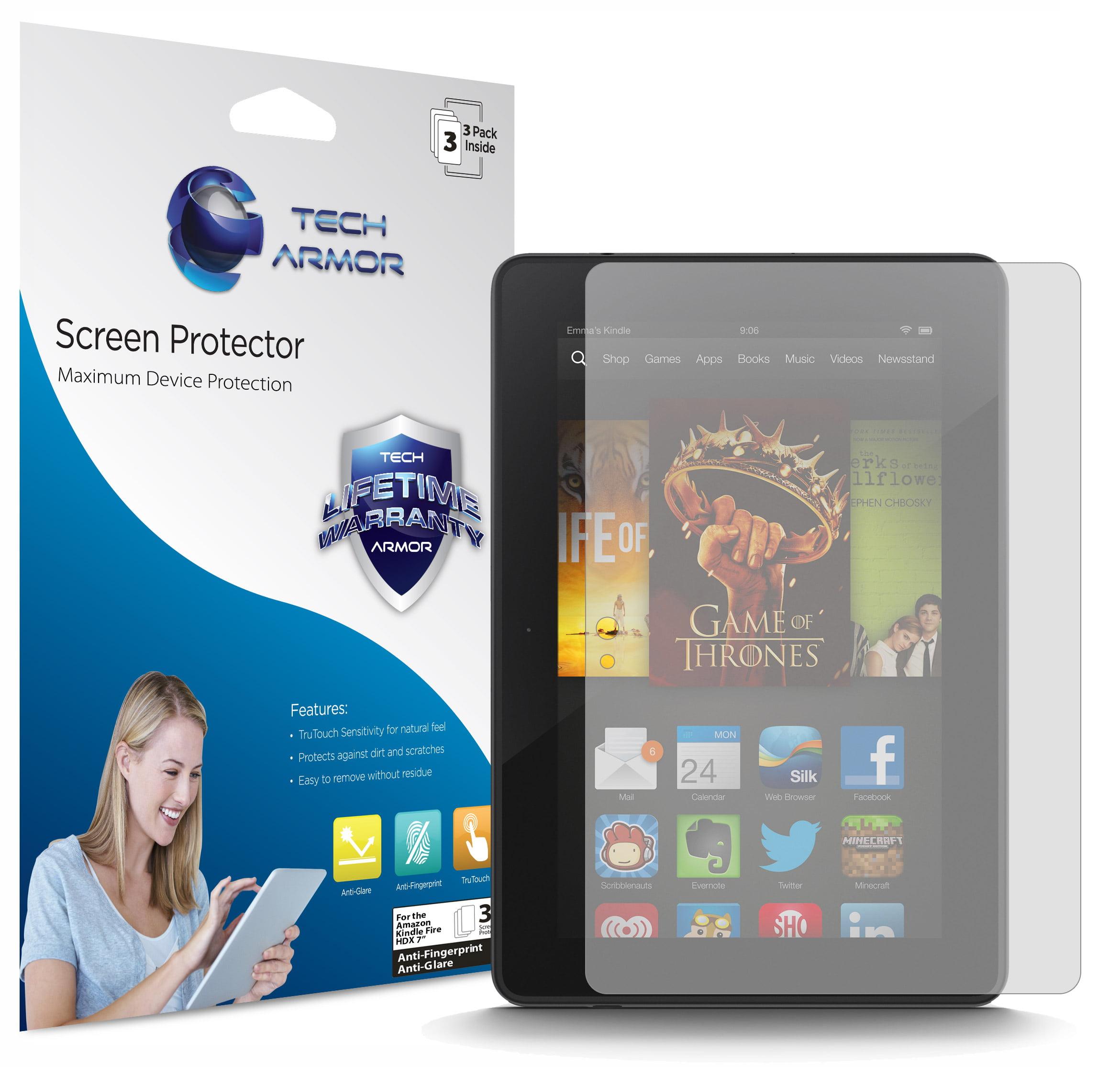 "Kindle Fire HDX Screen Protector, Tech Armor Anti-Glare/Anti-Fingerprint Amazon Kindle Fire HDX 7""  (2013) Film Screen Protector [3-Pack]"