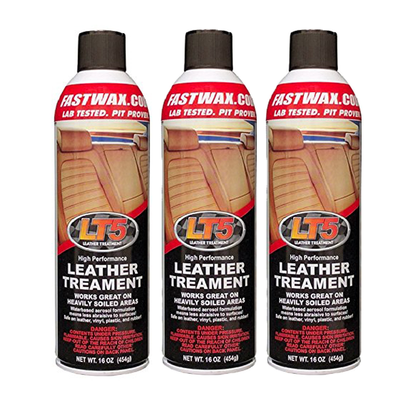 LT5 High Performance Leather Treatment Cleaner and Conditioner by FW1 Fast Wax (3 Pack)