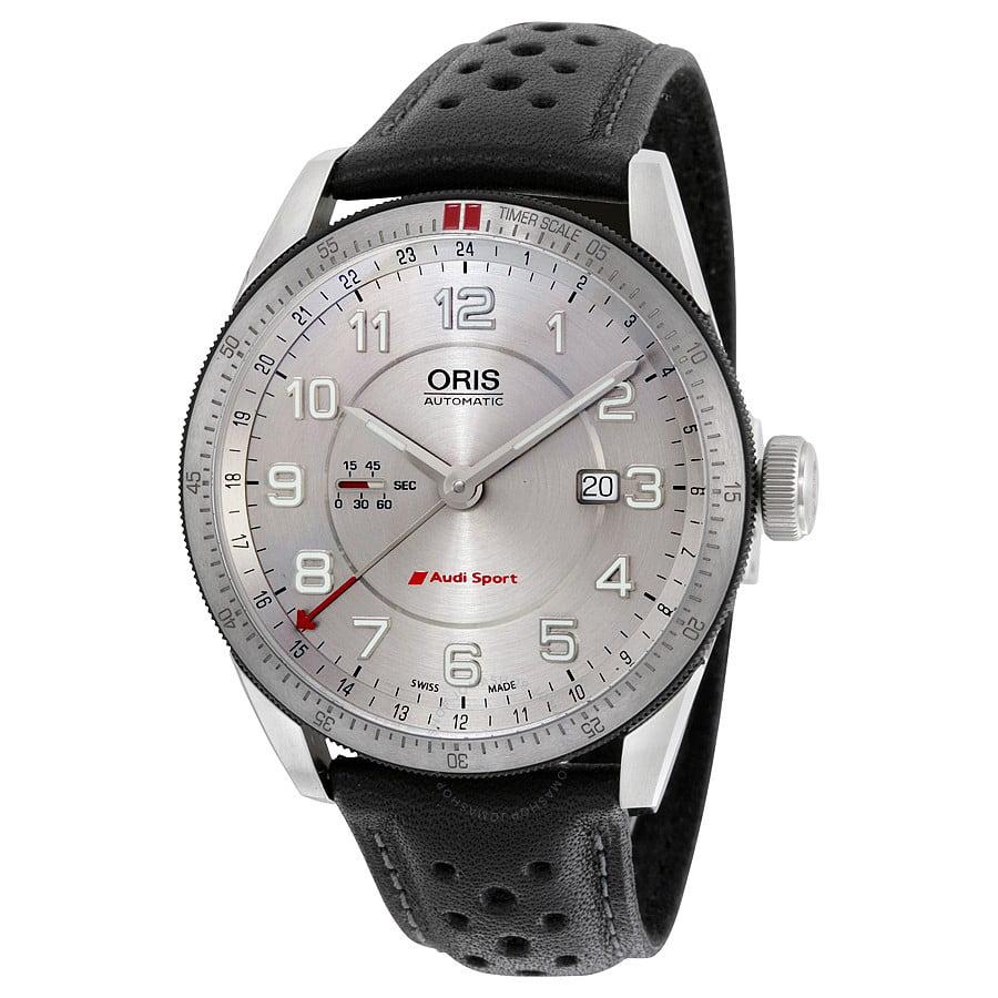 Oris Artix Audi Sport GMT Automatic Silver Dial Black Lea...