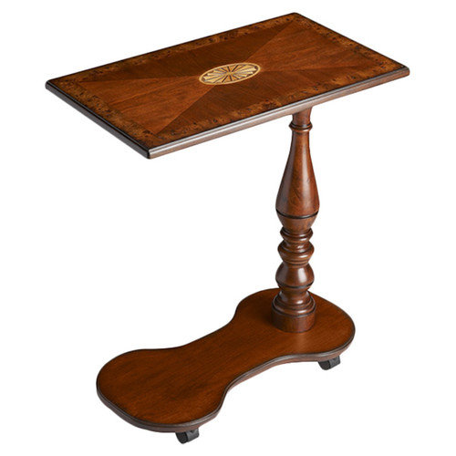 Butler Mobile Tray Table - Olive Ash Burl