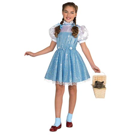 Wizard of Oz Girls Dorothy Costume with Sequin Dress & Hair Bows - Lois Lane Costume Ideas